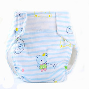 BABYBOO Breathable Comfortable Baby Cotton Pants Cloth Nappies Cute Cartoon Size S/M/L