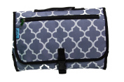Baby-Steps, Portable Changing Pad/Mat/Clutch/Bag - Grey Stone Arbour