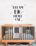 Dream Big Little One Quote Lettering Wall Decal- by Simple Shapes ®