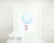 Fly Away Fox Print 20cm *25cm with a Beautiful White Frame