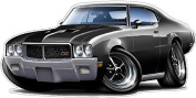 1970-72 Buick GS 455 Stage 1 Wall Graphic 60cm x 120cm 1.2m Long Decal Sticker Man Cave Garage Decor Boys Room Decor