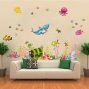 RRRLJL The Underwater World Animals Peel & Stick Wall Decor Nursery Wall Sticker Decals for Boys and Girls