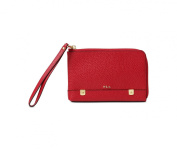 Lauren Ralph Lauren Womens Morrison Large Wristlet Fall Red