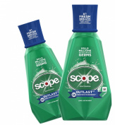 (2 Pack) Scope Mouthwash, Outlast, Long Lasting Mint, 1000ml ea.
