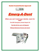 EDK Emerg-A-Dent Miini Kit 10 Dental Repairs in a Box-Fillings/Crowns/Dentures There is No Other Like it!