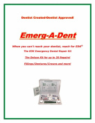 EDK Emerg-A-Dent Deluxe Kit 20 Dental Repairs in a Box-Fillings/Crowns/Dentures There is No Other Like it!