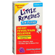Little Fevers Infant Fever/Pain Reliever Acetaminophen, Dye-Free, Grape 2 fl oz (59 ml) Pack of 6