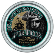 BlackBeard's Pride (NEW BAY RUM SCENT) Beard Balm, Leave-in Hair and Skin Conditioner, All Natural Pure Botanicals, Butters, and Essential Oils, Suitable for all Beard Types, NEW Bold Bay Rum Scent.
