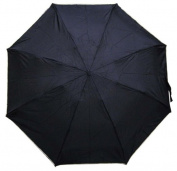 Conch Umbrellas 44140 Black 110cm . 4 Fold Umbrella Folds Into 20cm . Long