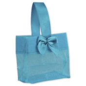 Deluxe Small Business Sales B788-85 3.25 x 8.3cm x 5.1cm . Satin Bow Mini Totes Blue