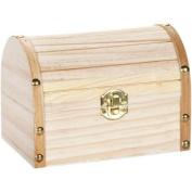 Wood Chest Hinged W/Clasp 15cm x 10cm X4.7.6cm -