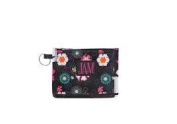 Joann Marie Designs P2IDBFP Poly Id Pouch - Black Flower Power Pack of 6
