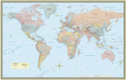 BarCharts 9781423220848 World Map-Paper
