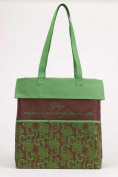 Christian Brands 62587 Tote Canvas Grace Green Brown 14 x 14