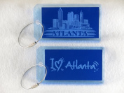 Destinations Neon Acrylic I.D. Tag - Atlanta Blue