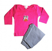 Loralin Design GFO12 Owl Outfit - Fuchsia 12-18 Months