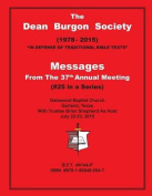Dean Burgon Society Messages, 37th Annual Meeting