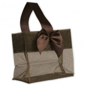 Deluxe Small Business Sales B788-91 3.25 x 8.3cm x 5.1cm . Satin Bow Mini Totes Chocolate