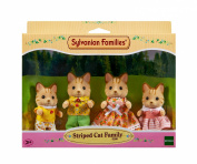Sylvanian Families Striped Cat Family
