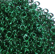 GREEN Anodized Aluminium Jump Rings 250 1/4 18g SAW CUT