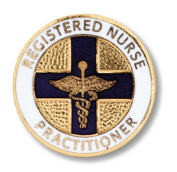EMI Round Registered Nurse Practitioner Emblem Pin