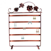 Mooca Copper Floral and Ivy Earring Display Stand, 30cm W x 43cm H