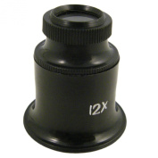 Jewellers Eye Loupe 12X Magnification for Precision Hobby Craft Projects
