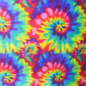 Tie Dye Anti Pill Plaid Fleece Fabric, 150cm Inches Wide - Sold By The Yard