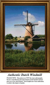 Authentic Dutch Windmill, Windmill Counted Cross Stitch Pattern