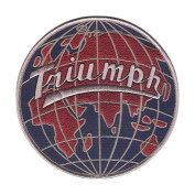 New 13cm Triumph Motorcycle GLOBE Style - Highly Detailed Embroidered Patch