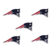 Set of 5 New England Patriots NFL Lot EMBROIDERED PATCH Badge Iron-on, Sew On.