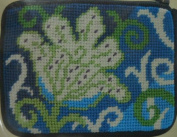 Stitch & Zip Coin/Credit Card Case Needlepoint Kit - SZ209 White Tulip
