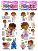 3 Sheets Puffy Dimensional Scrapbooking Party Stickers-FREE USA SHIPPING - DOC MCSTUFFINS
