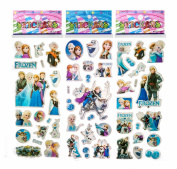 3 Sheets Puffy Dimensional Scrapbooking Party Stickers-FREE USA SHIPPING - FROZEN