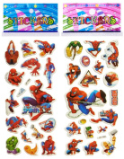 3 Sheets Puffy Dimensional Scrapbooking Party Stickers-FREE USA SHIPPING - SPIDERMAN