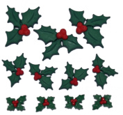 Dress It Up 2478 Holly Jolly Christmas Embellishment