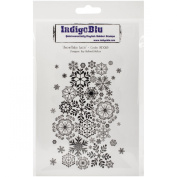 IndigoBlu Cling Mounted Stamp 13cm x 20cm -Snowflake Lace