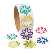 Foil Snowflake Stickers - Scrapbook Crafts Christmas Snowflake Stickers