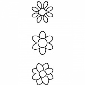 7.6cm Flower Mini Blocks Quilting Stencil - 10cm x 38cm by StenSource