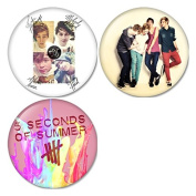 5 Seconds Of Summer #3 Pinback Buttons Badges/Pin 1.25 Inch (32mm) Set of 3 New