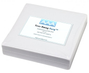 AAA Quality - Tear Away Easy TM - Machine Embroidery Stabiliser Backing 100 Precut Sheets- Medium Weight 50ml - 20cm x 20cm - Fits 4×4 Hoops - Made In USA