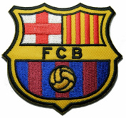 1 X Fc Barcelona Futbol Football Soccer Iron-on Embroidered Patch Emblem Logo Badge Applique By Luk99
