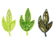Medium Sequin Leaf (green Colours) By Shine Trim - Iridescent Lime