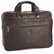 Heritage Travelware 827361 Brown Colombian Leather Double Gusset Computer Case