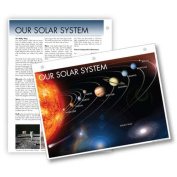 Universal Map 15756 Solar System Notebook Map With Fact Sheet