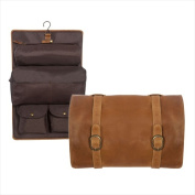 Canyon Outback Leather CS500-26 Buffalo Mountain Hanging Leather Toiletry Bag Distressed Tan