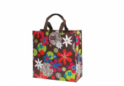 Joann Marie Designs P2SBCLF Poly Shopping Bag - Chocolate Leopard Floral Pack of 6