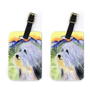 Carolines Treasures SS8244BT Pair of 2 Bearded Collie Luggage Tags