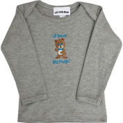 Lil Cub Hub 4CLSTBBG-1218 Grey Long Sleeve T-Shirt - Boy Bear 12-18 months