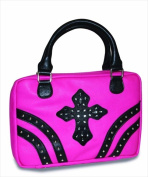 Divinity Boutique 12831X Bi Cover Pink With Rivets & Black Gem Cross Large